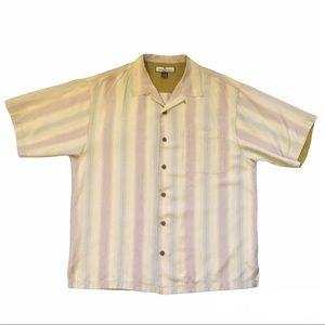 Tommy Bahama Shirt Striped Silk Short Sleeve shirt